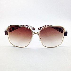 Óculos Quadrado Marrom Degradê com Tartaruga Claro (Cód 139oc)