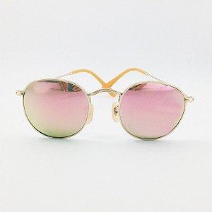 Óculos Retrô Rosa Espelhado (147oc)
