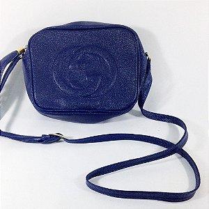 Bolsa Soho Disco Azul Marinho Inspired
