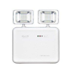 Iluminação de Emergência LED 1.200 Lumens 2 Faróis