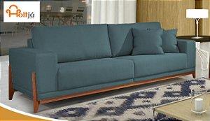 Sofá fixo Bellagio Linho Azul