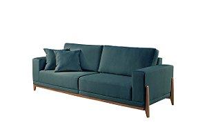 Sofá fixo Bellagio Linho Azul 1,90