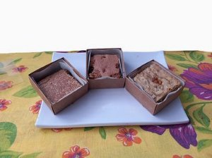 Mini Brownie Chocolate com Nozes
