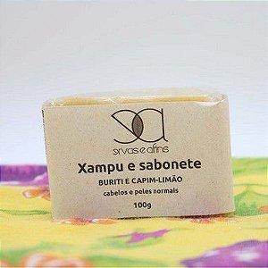 Xampus Sólido Buriti e Capim-Limão (cabelos e peles normais) 100g