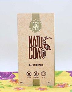 Chocolate em Barra 56% cacau 80g