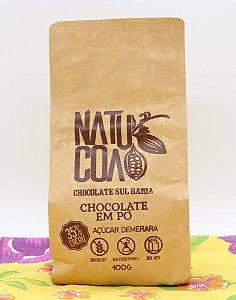 Chocolate em pó 35% com açúcar demerara 400g