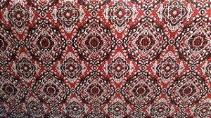 Tecido 100% algodão - Estampa Bandana Pequena Vermelho 0,50 metro