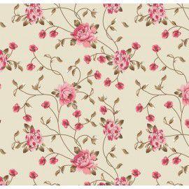 Tecido 100% algodão Floral Ramos - 0,50 metro