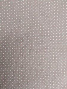 Tecido 100% algodão - Estampa Poá Rose com Bolinhas Brancas -  0,50 metro