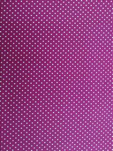 Tecido 100% algodão - Estampa Poá Pink com Bolinhas Brancas -  0,50 metro