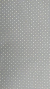 Tecido 100% algodão - Estampa Poá Azul Claro com Bolinhas Brancas -  0,50 metro