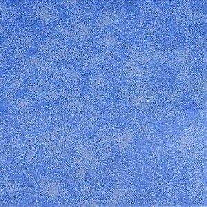 Tecido 100% algodão - Estampa Poeira Azul Claro -  0,50 metro