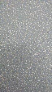 Tecido 100% algodão - Estampa Florzinha Azul Claro -  0,50 metro