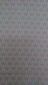 Tecido 100% algodão - Estampa Florzinha Rosa -  0,50 metro