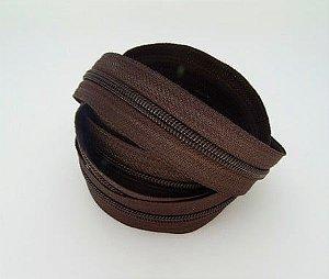 Zíper N°5 Marrom Escuro - 1Metro