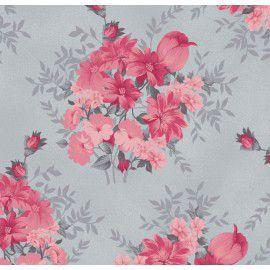 Tecido 100% algodão - Estampa Amor Perfeito -  0,50 metro