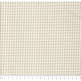 TEcido 100% algodão - Estampa Xadrez Miudo Bege-  0,50 metro