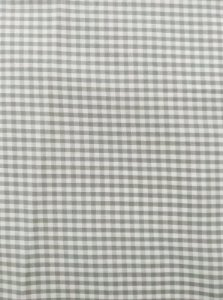 Tecido 100% algodão - Estampa Xadrez Pequeno Cinza -  0,50 metro