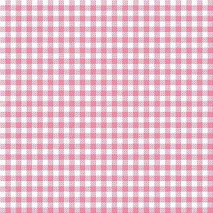 Tecido 100% algodão - Estampa Xadrez Pequeno Rosa -  0,50 metro