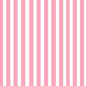 Tecido 100% algodão - Estampa Listrado Rosa -  0,50 metro