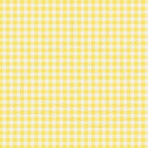Tecido 100% algodão - Estampa Xadrez Pequeno Amarelo -  0,50 metro