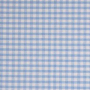 Tecido 100% algodão - Estampa Xadrez Medio Azul -  0,50 metro