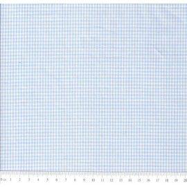 Tecido 100% algodão - Estampa Xadrez Miudo Azul  -  0,50 metro