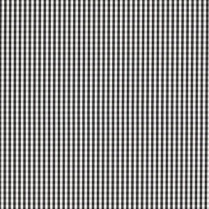 Tecido 100% algodão - Estampa Xadrez Miudo Preto-  0,50 metro