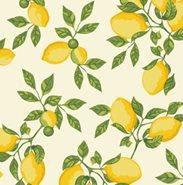Tecido 100% algodão - Estampa Limão Siciliano Fundo Claro - 0,50 metro