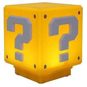 Luminária cubo Super Mario