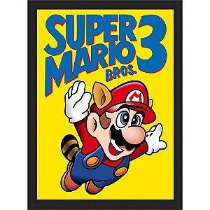 Quadro com moldura Super Mario Bros 3
