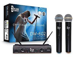 Microfone Sem fio de mão Dylan DW-602