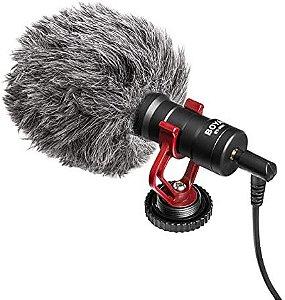 Microfone Boya By-mm1 Para Câmera Dslr ou Smartphone
