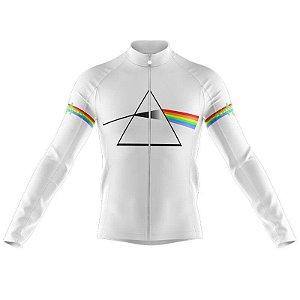 Camiseta Manga Longa Pink Floyd Bicicleta Esportiva Dry Fit