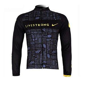 Camisa LiveStrong Manga Longa Ciclista Bicicleta Mtb Bolso