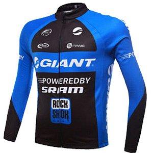 Camisa Giant Manga Longa Bicicleta Atleta Dry Fit Esportiva