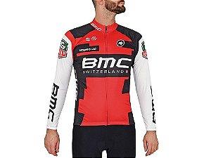 Camisa BMC Manga Longa Bicicleta Fitness Esportes Ziper Mtb