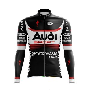 Camisa Ciclismo Manga Curta Bicicleta Audi Ziper Dry Fit Mtb