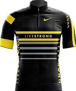 Camisa Infantil Ciclismo Livestrong Confortável Dry Fit Respirável UV
