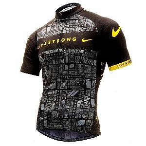 Camisa Infantil Ciclismo Livestrong Confortável Dry Fit Respirável Sport