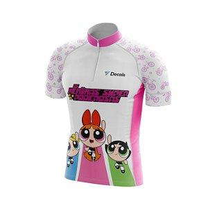 Camisa Infantil Meninas Super Poderosas Esporte Ciclismo Mtb UV