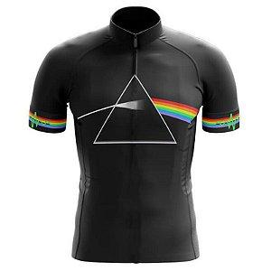 Camisa Infantil Pink Floyd Preta Ciclismo Dry Fit Uv