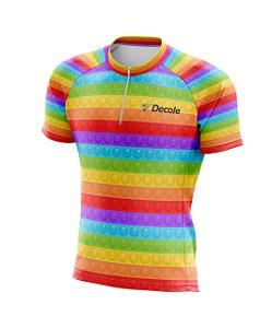 Camisa Meio Ziper Infantil Pop It Pro Mtb Uv