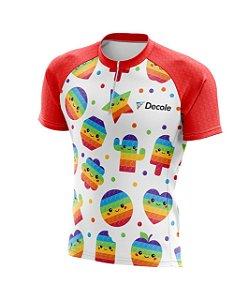 Camisa Infantil Pop It Figurinhas Ciclista Pro Mtb