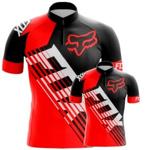 Conjunto Camisa Fox Pai E Filho Bike Fitness Mtb