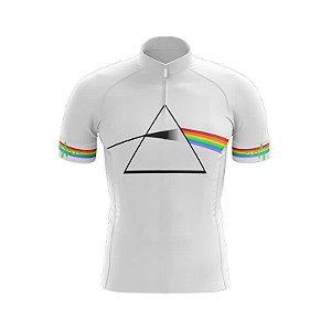 Camisa Manga Curta Pink Floyd Bicicleta Ziper Bike Mtb Dry Fit