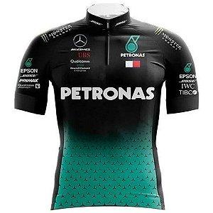 Camisa Manga Curta Unisex Petronas Ciclismo Roupa Ciclista Mtb
