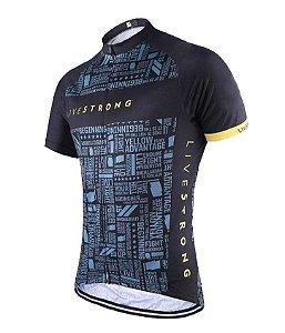 Camisa Livestrong Manga Curta Bike Ciclismo Dry Fit Esportes Mtb