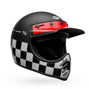Capacete Bell Moto 3 Fasthouse Checkers Matte
