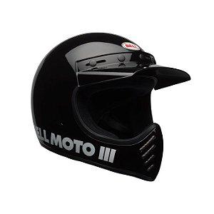 Capacete Bell Moto 3 Black Classic